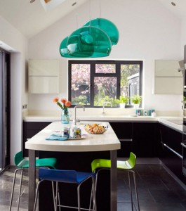A Touch of a Burst Colors to a Kitchen Table Idea